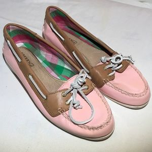 Sperry Top-Sider Pink Patent Leather Boat Shoes